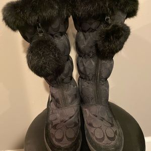 Coach Theona Snow Boots Women's Size 6.5